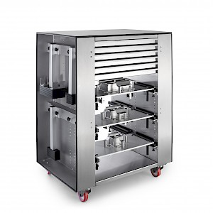 Tooling cart fast exchangeable molds